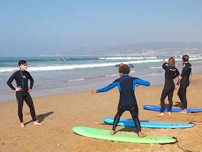 surfeurs maroc