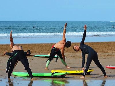 échauffement surf maroc