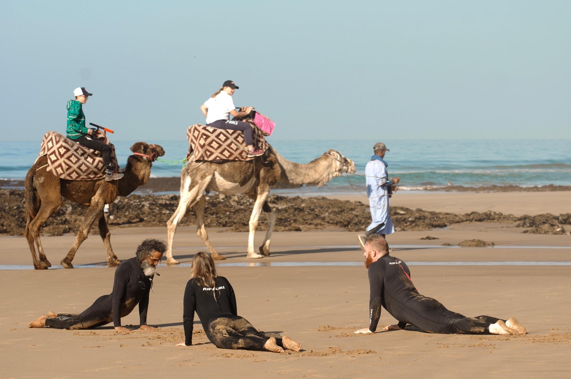 cours surf maroc étirement